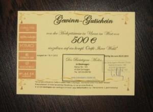 Der Bräutigam Moden Gutschein 500€