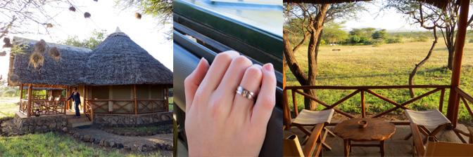 Kenia: Ansichten vom Zeltcamp und mein Ring zum Heiratsantrag
