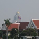Bangkok Blick auf das Lebua vom Chao Praya River