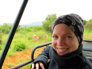 Annika auf Safari