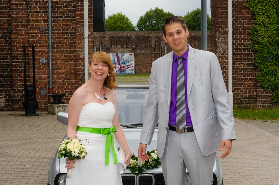 Foto für das Hochzeitsauto
