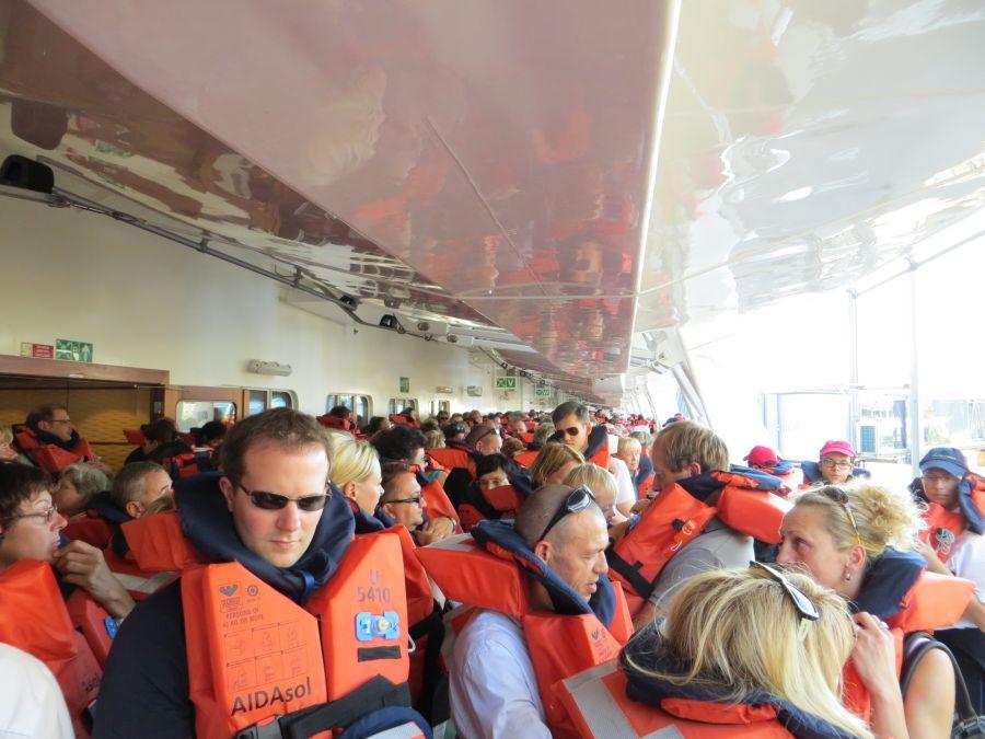 Rettungsübung: so viele Menschen