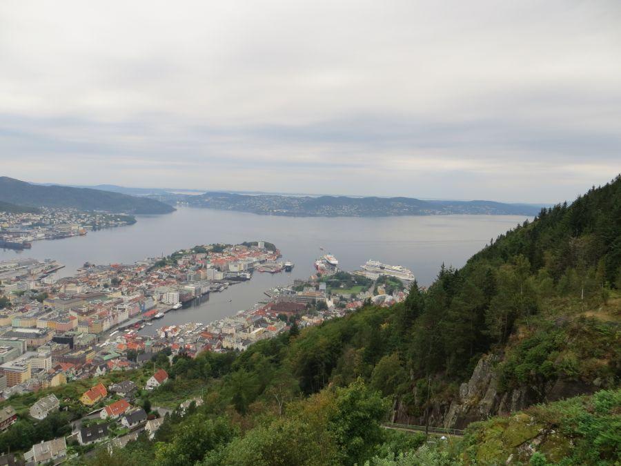 Bergen vom Floyen aus betrachtet