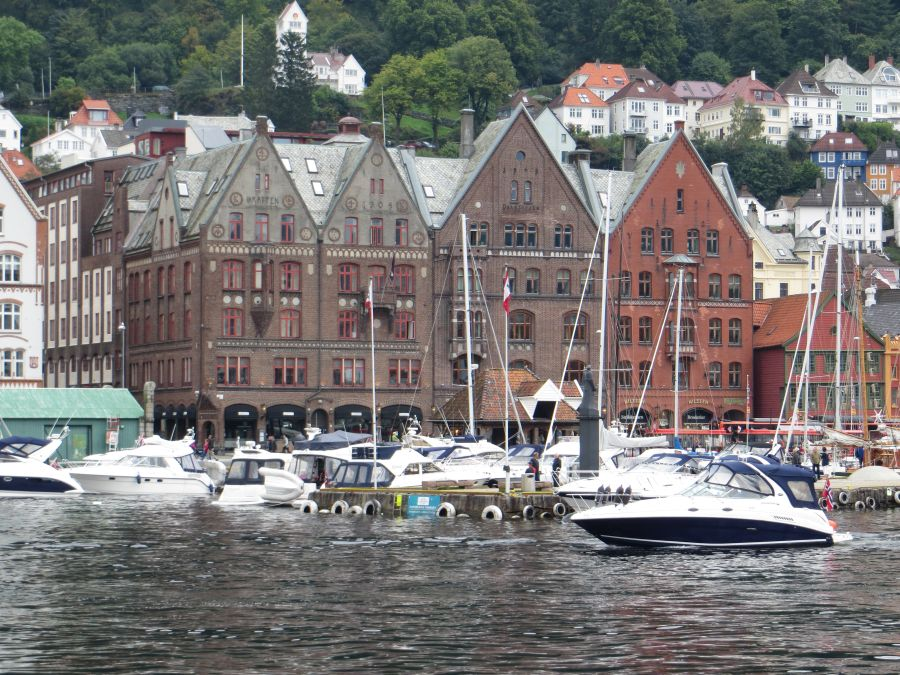 Bryggen-Viertel in Bergen