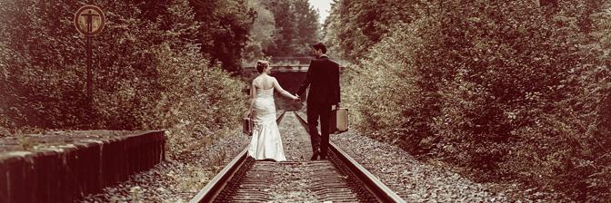 Brautpaarshooting mit Reisethema