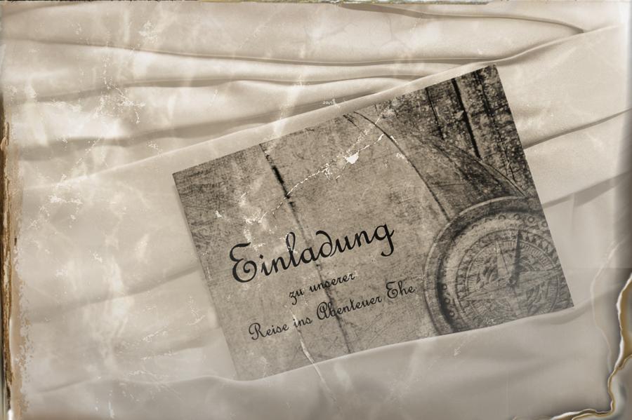 Einladungskarte im Hochzeitskleid