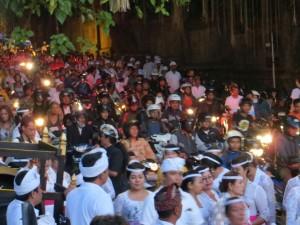 Eine Prozession auf Bali