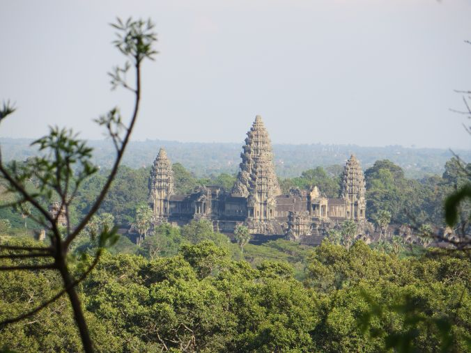 Angkor Wat aus der Vogelperspektive