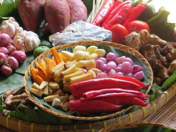 Zutaten für den Kochkurs auf Bali