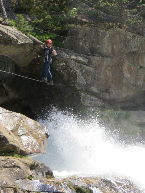 Über den Wasserfall