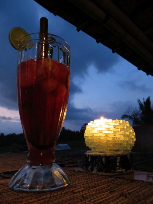 Drink zum Sonnenuntergang