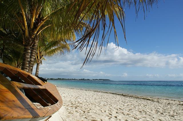 Puderzucker Strand auf Mauritius