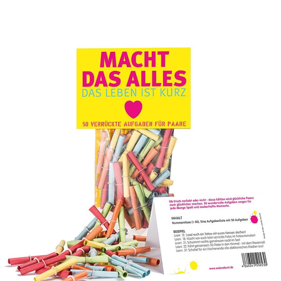 Lostüte mit Aufgaben für Verliebte © geschenkidee.de