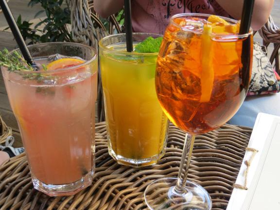 Limonaden und Aperol