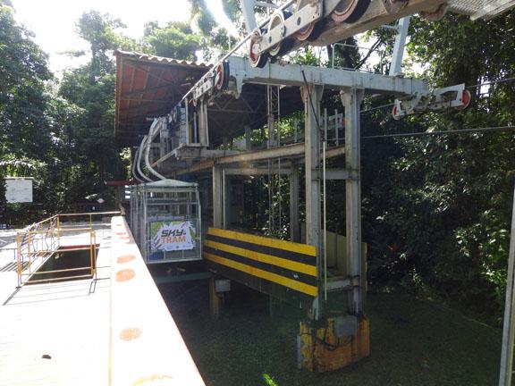Skytram zum Ziplining