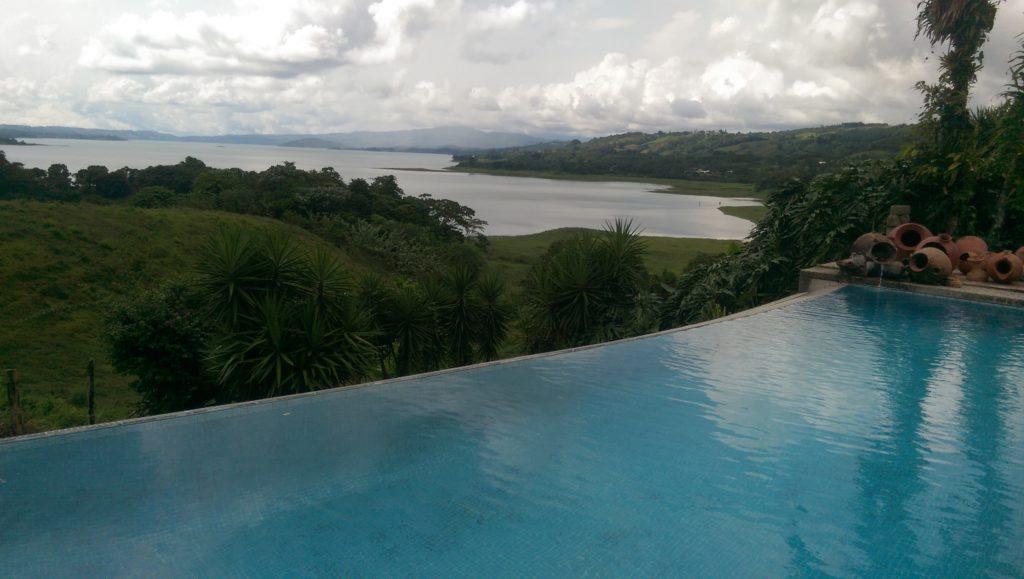 Ausblick auf den Arenal See