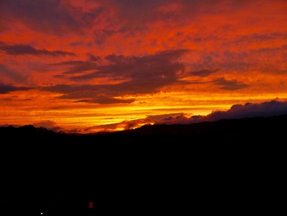 Toller Sonnenuntergang in La Fortuna