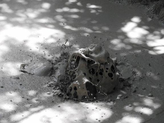 Große Schlammblasen