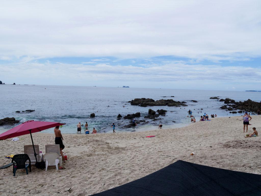 Playa Conchal ist sehr voll