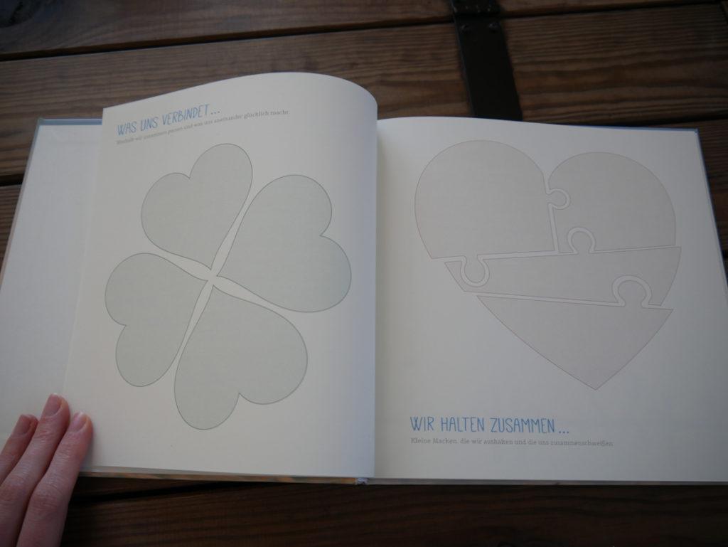 Flitterwochen-Geschenk: Kleeblatt und Herz