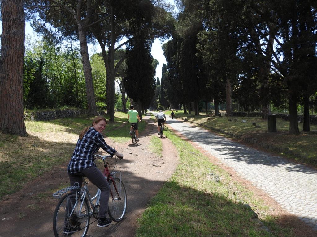 Mit dem Fahrrad auf der Appia Antica