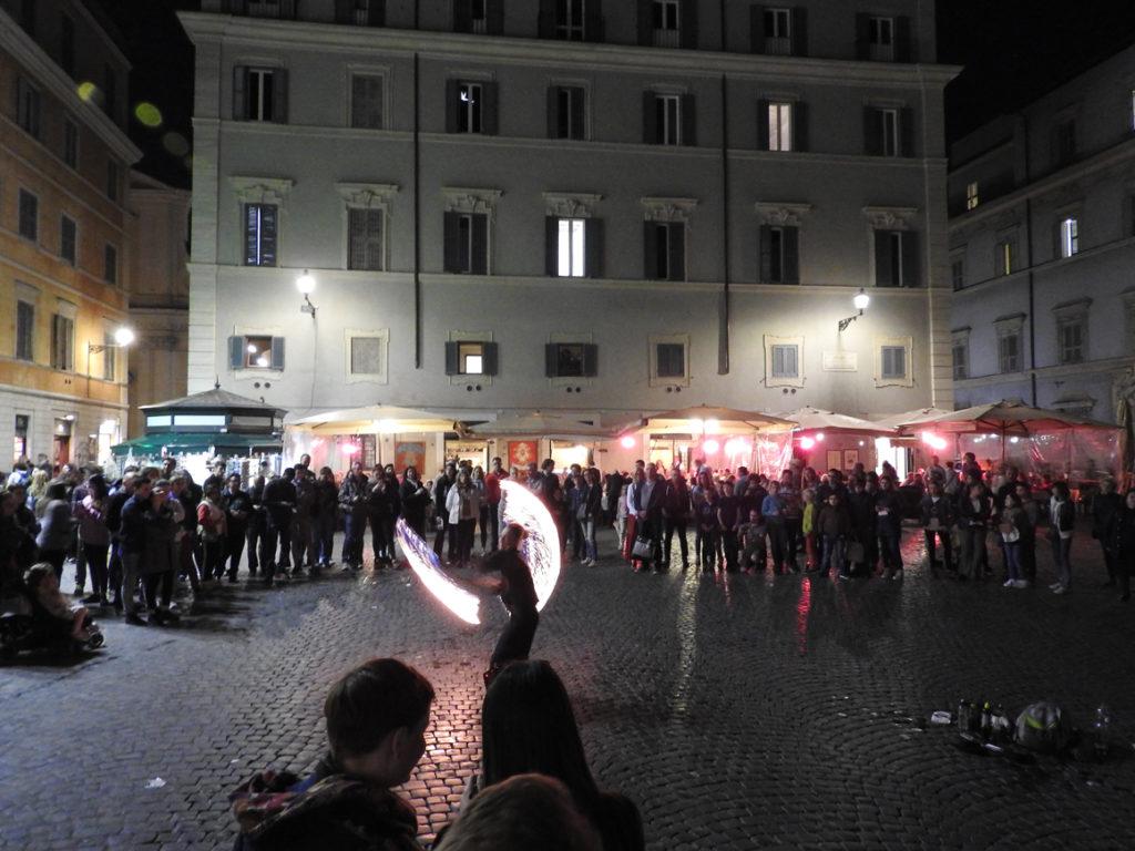 Feuershow in Trastevere