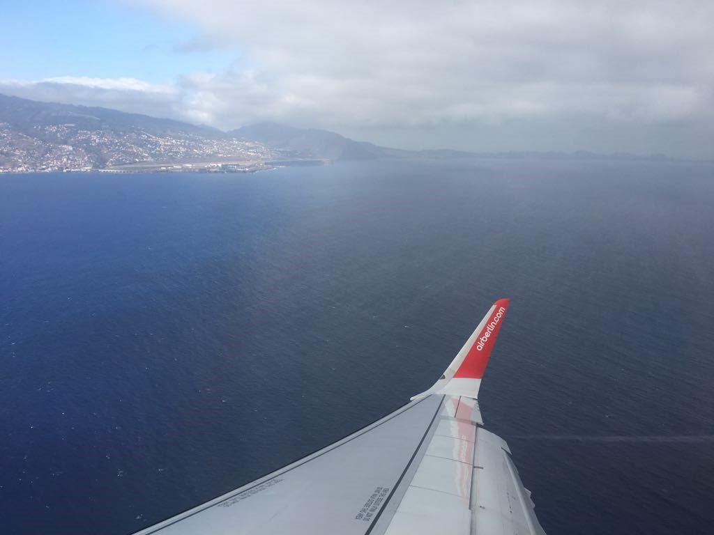 Landeanflug auf Madeira
